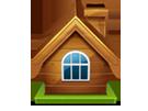 icon casa din lemn